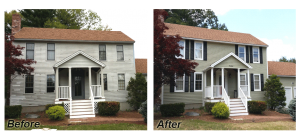 Before and After Exterior Paint Comparison