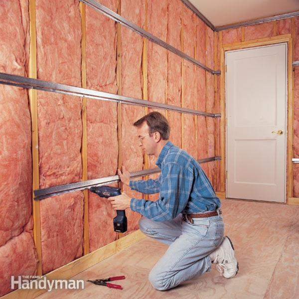 installing sound-absorbing materials onto your walls